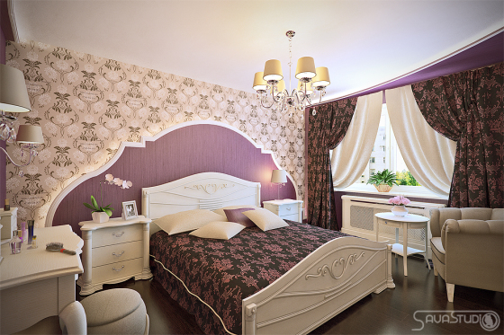 Готовые дизайн спальни