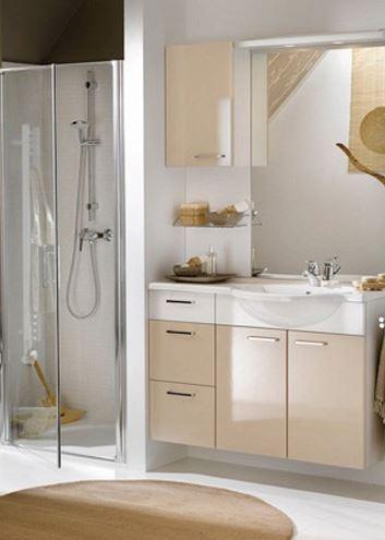 Agrandir salle de bain visuellement - Gain de place salle de bain ...